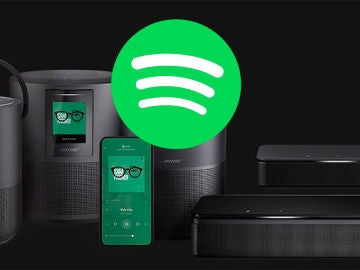 Dispositivos Bose y Spotify