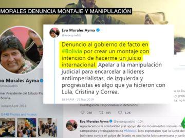 Evo Morales denuncia montaje y manipulación en el vídeo difundido por el gobierno interino de Bolivia