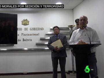 """El gobierno interino de Bolivia denuncia a Evo Morales por """"sedición y terrorismo"""""""