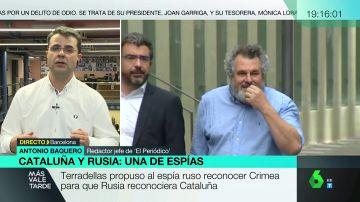 """Antonio Baquero: """"Rusia reconoce que desde Cataluña hubo una oferta a cambio del apoyo a la independencia"""""""