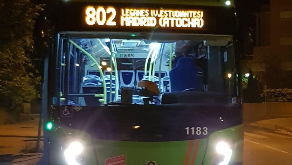 Imagen de archivo de un autobús de la Comunidad de Madrid