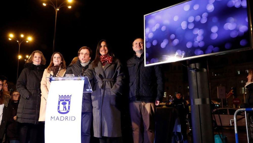 Martínez-Almeida, en el encendido de las luces de Navidad