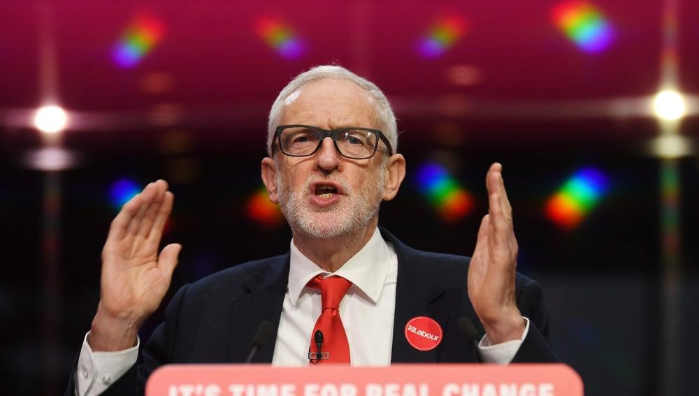 El candidato laborista Jeremy Corbyn