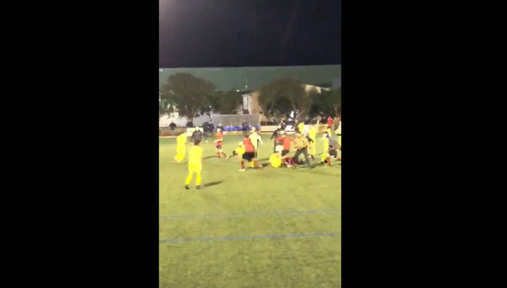 Batalla campal en un partido de Baleares