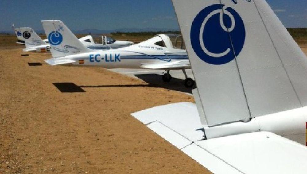 Imagen de archivo de avionetas en el aeródromo de  Casarrubios del Monte