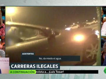Imagen de una carrera ilegal en Vallecas