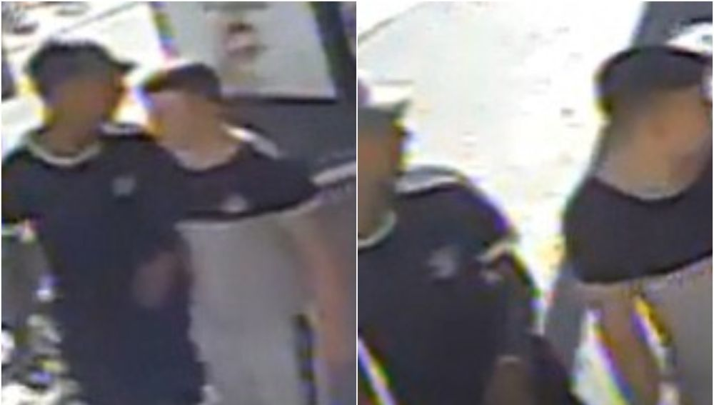 Las imágenes de los dos sospechosos difundidas por la Policía Nacional en Murcia.