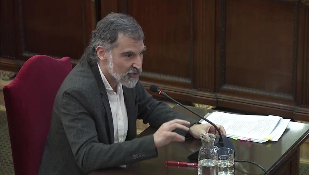 Jordi Cuixart en el juicio del procés (Archivo)
