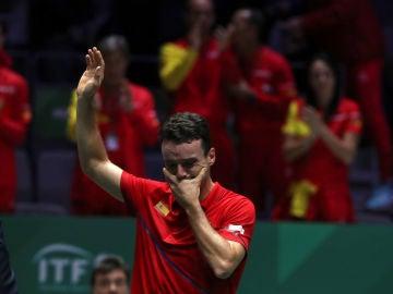Roberto Bautista, entre lágrimas