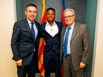Ansu Fati renueva contrato