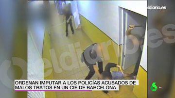 Ordenan imputar a los policías acusados de maltratar a migrantes tras un intento de fuga de un CIE de Barcelona