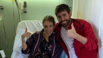 Audrey Match, en el Hospital Vall d'Hebron