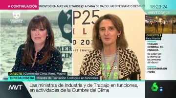 """Teresa Ribera considera """"simplista"""" culpar a las empresas del cambio climático: """"Los gobiernos no han actuado y los ciudadanos no lo han priorizado"""""""