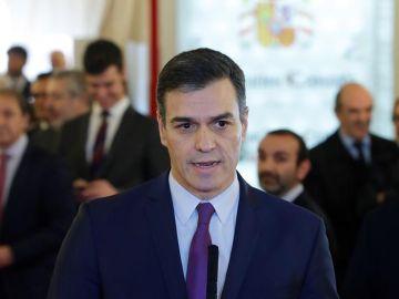 Pedro Sánchez en los actos del Día de la Constitución