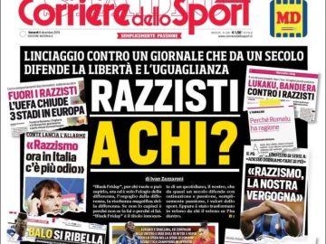 Portada de 'Corriere dello Sport'