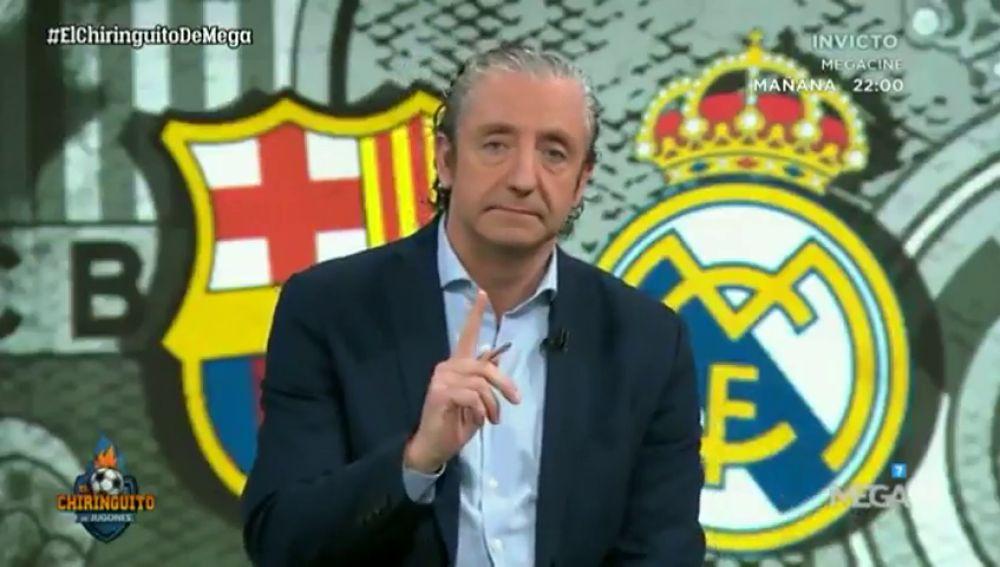 """Josep Pedrerol y su reflexión en 'El Chiringuito': """"¿Os imagináis que El Clásico no pudiera jugarse?"""""""