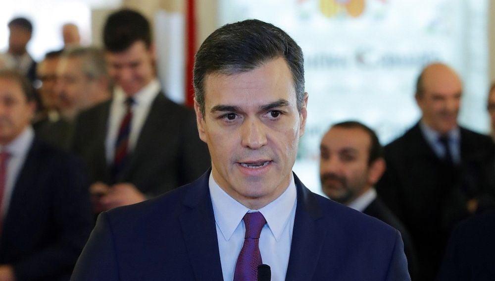 Sánchez en la celebración del Día de la Constitución
