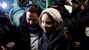 Greta Thunberg a su llegada a Madrid