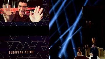 Antonio Banderas recibe el premio al mejor actor europeo por 'Dolor y gloria'