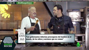 Karlos Arguiñano con Iñaki López