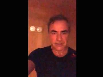 Carlos Sainz, en una sauna
