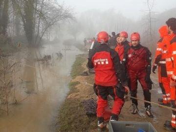 Los Bombers de la Generalitat en las tareas de rescate