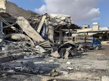 Imágenes de los bombardeos sobre Idlib (Siria).