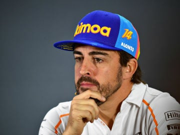 Fernando Alonso, pensativo