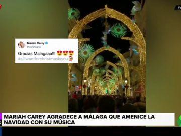 El tuit de Mariah Carey sobre las luces de Navidad de Málaga que le habría gustado al alcalde de Vigo