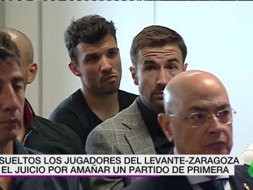 El juez absuelve a los jugadores acusados de amaño por el Levante-Zaragoza de 2011 y condena a dos exdirectivos maños