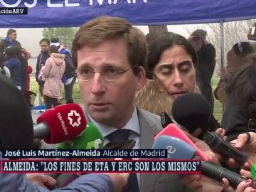 """Martínez-Almeida asegura que ERC tiene la misma finalidad que ETA: """"Romper la unidad de España"""""""