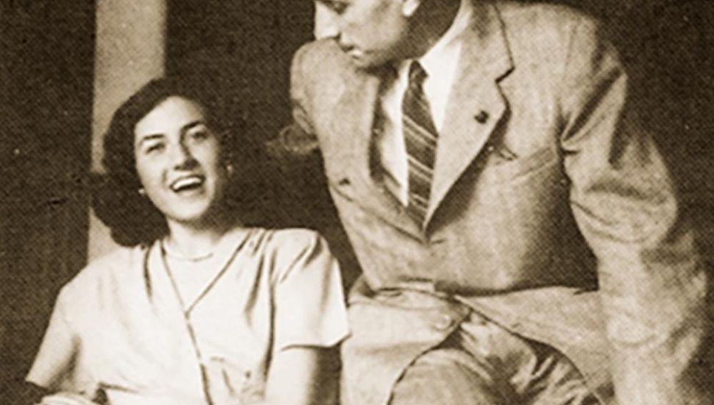 Delibes y su mujer