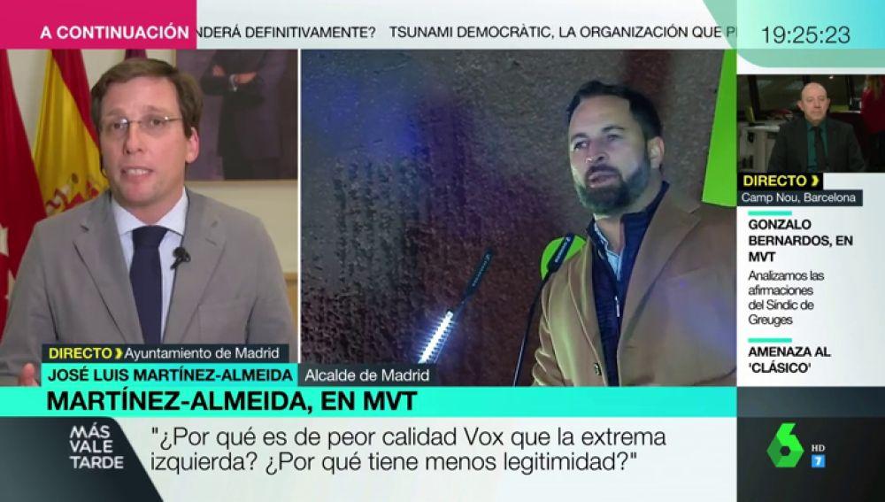 """Martínez-Almeida: """"¿Por qué cabe demonizar a Vox y se blanquea a la extrema izquierda?"""""""
