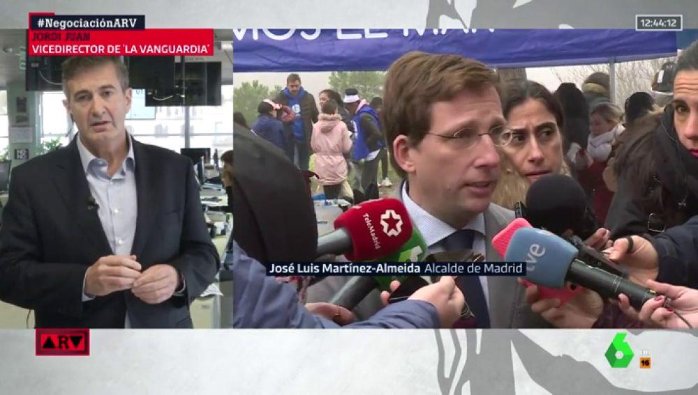"""Jordi Juan, sobre las palabras de Almeida: """"Comparar la acción de ETA con Esquerra Republicana es una barbaridad"""""""