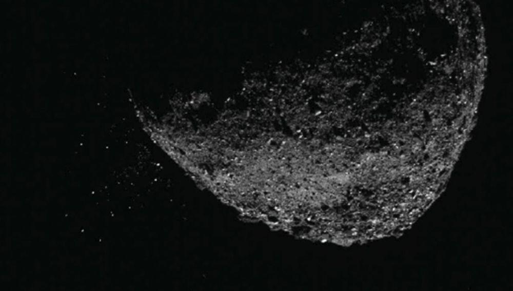 La mision espacial OSIRIS REx capta actividad eruptiva en el asteroide Bennu