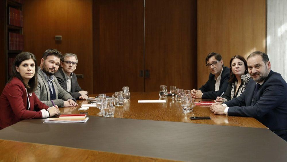 Reunión entre ERC y PSOE