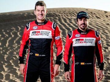 Fernando Alonso y Marc Coma