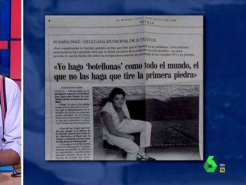 """Cuando una joven Susana Díaz reconocía """"hacer botellonas, como todo el mundo"""""""