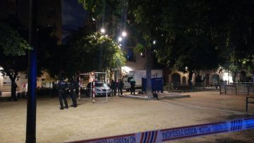 Lugar donde se ha encontrado al fallecido en Barcelona