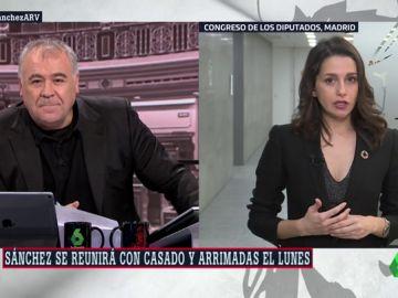 """Inés Arrimadas: """"Me he partido la cara por defender la igualdad de los españoles, no voy a hacer vicepresidente a Iglesias"""""""
