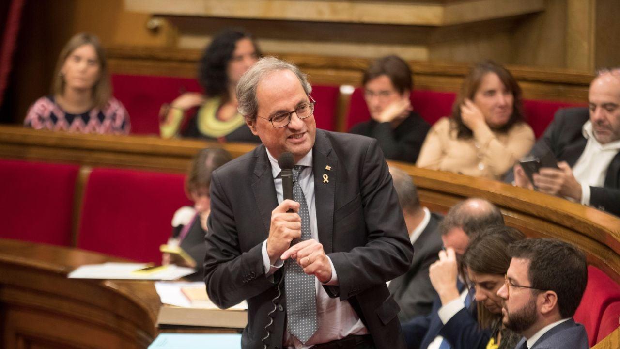 Quim Torra justifica el retraso de las medidas sociales en Cataluña, dando prioridad a los presos
