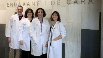 Santiago Escrivá, Mafalda Oliveira, Cristina Saura y Laia Garrigós del VHIO