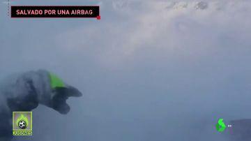 "Una avalancha engulle a un snowboarder en Alaska: ""¡Oh, m*****!"""