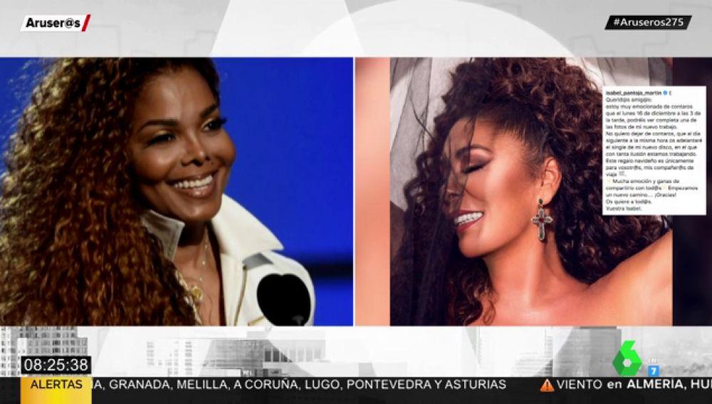 Isabel Pantoja sorprende a sus seguidores con un look a lo Janet Jackson
