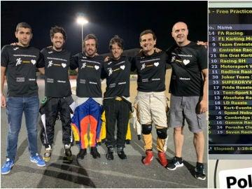 Fernando Alonso y su equipo, pole en las 24 Horas de Dubai