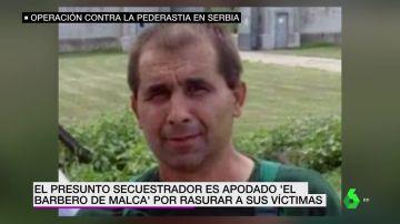 El presunto secuestrador de una niña de 12 años en Serbia.