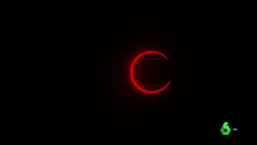 Streaming en directo del último eclipse solar de 2019 y su anillo de fuego