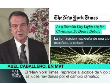 """Abel Caballero responde al 'New York Times': """"Consume más un campo de fútbol en un mes que todas las luces de Vigo en dos meses"""""""