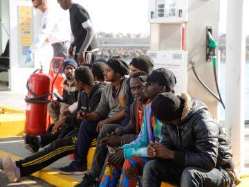 Migrantes rescatados en las costas españolas