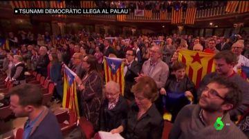 "VÍDEO REEMPLAZO |  Gritos de ""libertad"" e ""independencia"" en el tradicional concierto navideño de Sant Esteve"